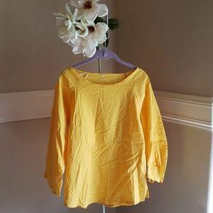 Tops - Yellow, Unbranded Linen top